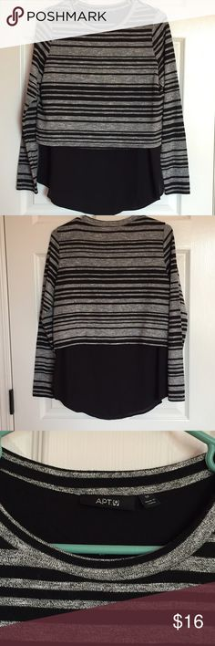 Apt. 9 extender sweater ❤️️ Brand:   Apt 9 ❤️️Size:  medium ❤️️Color:  black and gray  ❤️️ Condition: excellent used-worn once  ❤️ Measurements: Waist Bust Length  ❤️Materials: ❤️️Notes: 💕Make an offer!💕 💕 Bundle 2+ items and save 30%!💕 Apt. 9 Tops
