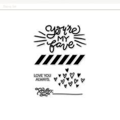 You're My Fave Valentine Stamp Set at @studio_calico