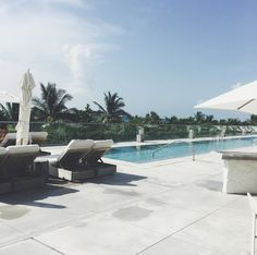 Pool at the One Hotel in South Beach Miami