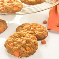 Oatmeal Pumpkin Spice Cookies- just pulled these out of the oven...OMG the kitchen smells good -N