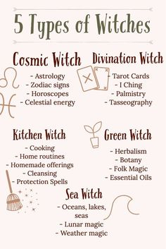 5 Types Of Witches - Wicca And Witchcraft Beginners Guide