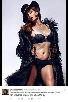 Cindy Crawford è da sempre una delle donne più belle del mondo. Ma a 48 anni, e dopo due gravidanze, come tutte le donne la supermodel porta sul