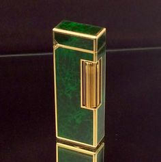 DUNHILL ROLLGAS LIGHTER ~ Gold Plated Green Marble Pattern Lacquer ~ Excellent  Condition !!!!    * Ultra Rare * by STUNNINGCOLLECTIBLES on Etsy