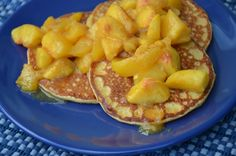 Oatmeal Pancakes with Peaches