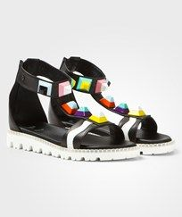 Fendi Multi Stud Ankle strap sandals Black F0QA1