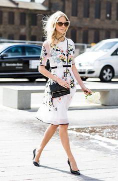 feminine floral dress