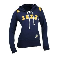 Touch by Alyssa Milano Utah Jazz Laced-Up Hooded Sweatshirt (Navy)