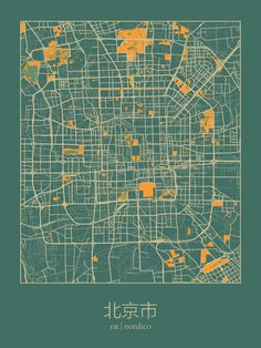 Beijing, China Map Print