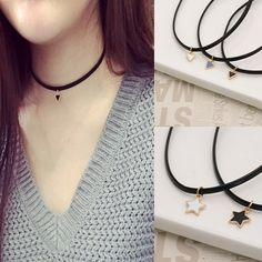 Leather Cord, Black Leather, Silver Rounds, 925 Silver, Women Jewelry, Chokers, Pendant Necklace, Jewels, Gifts