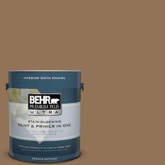 BEHR Premium Plus Ultra 1-gal. #290F-6 Warm Earth Satin Enamel Interior Paint