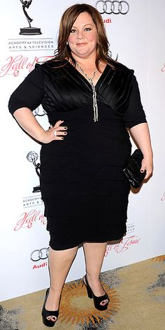 Actress Melissa McCarthy spotted in the Adrienne Mixed Chain necklace - one of my personal favorites!
