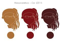 Versão monocromática utilizando três cores da marca original