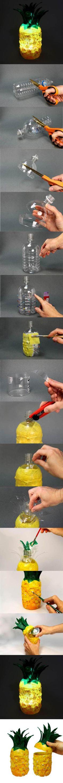 DIY Pineapple Lamp from Plastic Bottles | iCreativeIdeas.com Like Us on Facebook ==> https://www.facebook.com/icreativeideas