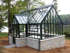 metal cheap custom made life size garden wrought iron gazebo with glass for outdoor decor-You Fine Sculpture Greenhouse Attached To House, Indoor Greenhouse, Backyard Greenhouse, Small Greenhouse, Greenhouse Plans, Backyard Landscaping, Pallet Greenhouse, Portable Greenhouse, Greenhouse Wedding
