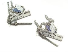 Levi & Eren Best Friends/Lovers Necklaces by Anime Couture