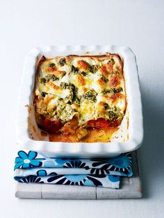 Pesto, ratatouille and a glorious combination of melting cheeses come together in this vegetarian lasagne recipe. Vegetarian Lasagne, Vegetable Lasagne, Vegetarian Bake, Vegetarian Recipes, Lasagne Recipes, Veg Recipes, Cooking Recipes, Savoury Recipes, Italian Recipes