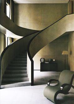 Interiors of the Armani Hotel...