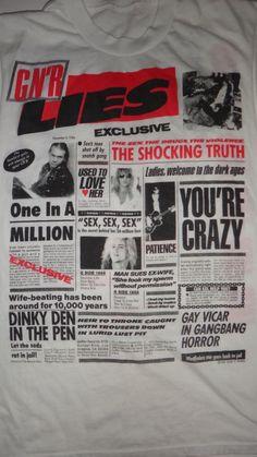 Vintage Guns N' Roses Lies 1988 Sleeveless T by TwistedFabrics
