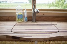 Pequod tiny house sink countertop// remove and use as a cutting board or set we dishes on top to dry