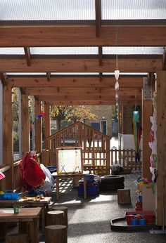 The canopy has doubled the size of the learning space and gives the children…