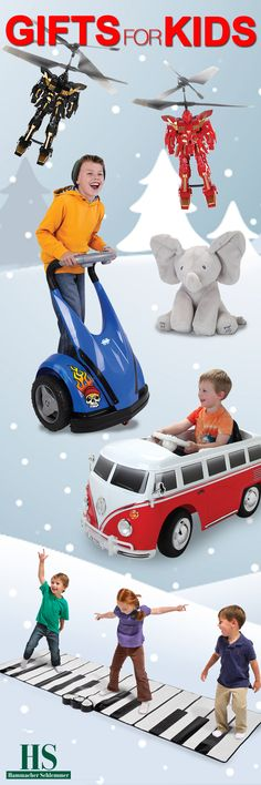 2016 Gifts for Kids from Hammacher Schlemmer.