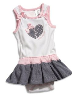 Baby Dresses - Pin It :-) Follow Us :-))     azDresses .com is your  Dresses Product Gallery.  CLICK IMAGE TWICE for Pricing and Info :) SEE A LARGER SELECTION of  baby dress at  http://azdresses.com/category/dress-categories/dresses-by-type/baby-dresses/  - baby girl, infant dress, dresses, dress -  GUESS Kids Girls Newborn Girl Peplum Bodysuit (0-9M), WHITE (0/3) « AZdresses.com