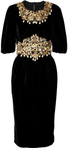 """DOLCE & GABBANA Embellished Velvet Dress I saw this at the Dolce & Gabbana Boutique in Bal Harbour Miami ..Oh My Goodness """" DIVINE""""!!!"""