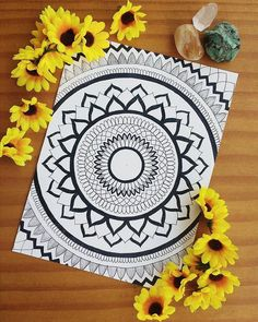 Perfect Mandala Design with Flowers