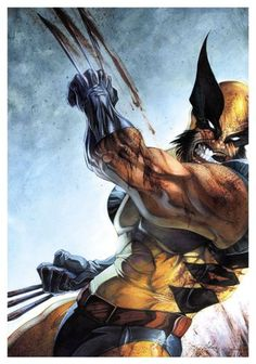 The Wolverine ripping it up old school.
