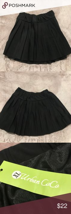 Brand new black pleated skirt. Brand new Urban CoCo Black pleated skirt (XL) in great condition. Urban CoCo Skirts Midi