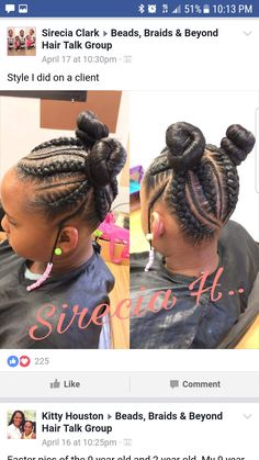 trendy crochet hair styles little girl Lil Girl Hairstyles, Natural Hairstyles For Kids, Kids Braided Hairstyles, Natural Hair Styles, Toddler Hairstyles, Small Feed In Braids, Braids For Kids, Girls Braids, Little Girl Braids