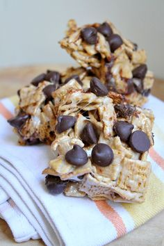 S'Mores Cereal Bars #recipe