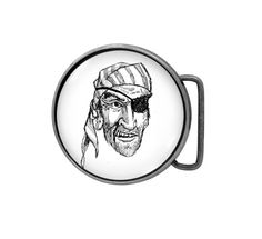 Belt buckle Pirate Antiqued Silver by UniqueArtPendants on Etsy