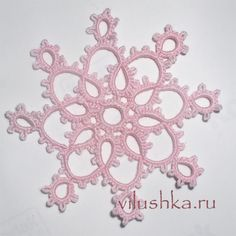 Cro Tatting tutorial - - - patterns enclude New Year lace mask, bookmarks, motifs, & snowflakes.