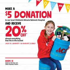 Ready to help Children's Miracle Network and save a little too!? Come by Yeagers for our bucket sale!
