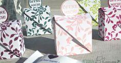 Ich habe ja in DIESEM Post geschrieben, dass es noch eine Mini-Version der Origami-Verpackung gibt. Hier ist sie nun. Die Anleitung fi...