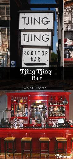 If you want something a little different, check out the rooftop bar, Tjing Tjing in Cape Town. Part rooftop, part attic in the heart of the CBD in a restored two century old building. They specialise in cocktails, unique wines and craft beer. Night Club, Night Life, Drinking Around The World, Bars And Clubs, Hot Beach, Best Club, Tourist Trap, Beach Bars, Old Building