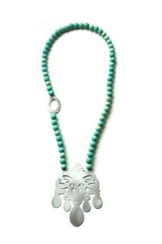 'Crown Jewels, Necklace, 2012, zinc, steel, silver, beads.  Made by Malou Paul. www.maloupaul.nl