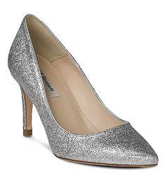 LK BENNETT Floret glitter heel (Sil-silver