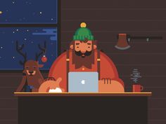 BYOB Lumberjack Party – CleanMyMac Preroll on Behance - CHARACTER DESIGN