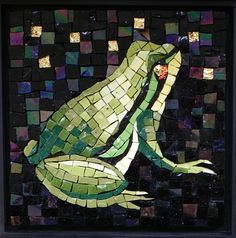 Midnight Frog by Jean Loney Maplestone Gallery Contemporary Mosaic Art