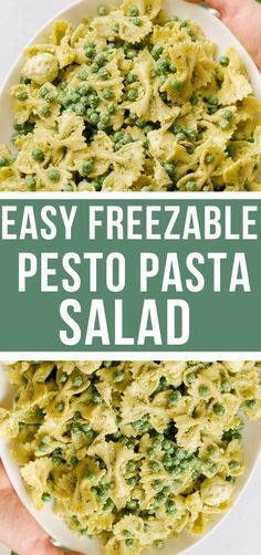This pesto pasta salad will go perfect as a side to any meal! This salad would especially be good for any memorial day bbq or get together! Make it ahead of time or the day of!! #freezer… Vegetarian Freezer Meals, Chicken Freezer Meals, Freezer Friendly Meals, Healthy Freezer Meals, Freezer Recipes, Camping Recipes, Pesto Pasta Salad, Pasta Salad Recipes, Pesto Dressing