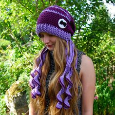 Crochet Octopus Hat by KayNoxx on Etsy