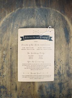 wedding program | photo by Byron Loves Fawn Photography | 100 Layer Cake