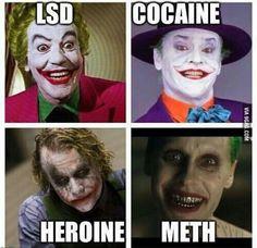 #Joker #LSD #Cocaine #Heroine #Meth