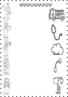 Margen Preschool Learning Activities, Preschool Curriculum, Kindergarten Worksheets, Worksheets For Kids, Community Helpers Worksheets, Community Helpers Crafts, Kindergarten Units, Teaching Kindergarten, All About Me Preschool Theme
