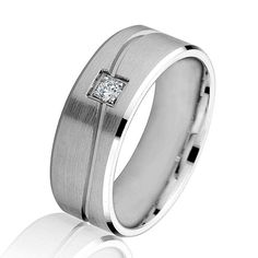 Speed Dating - Best Diamond Wedding Ring 2017 / white gold diamond carved comfort fit wedding ring. There is one round b Diamond Wedding Rings, Diamond Bands, Diamond Cuts, Wedding Bands, Wedding Things, Dream Wedding, Rings 2017, Gents Ring, Luxury Jewelry