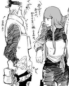 Naruto - Minato, Kushina, and Kakashi.