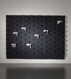 Wall-mounted brochure display rack PÄRE by Anna Salonen & Yuki Abe Vivero