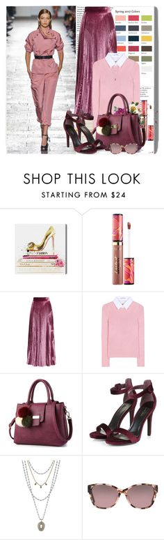 """""""Spring 2017 Colors"""" by k-hearts-a ❤ liked on Polyvore featuring Oliver Gal Artist Co., Balmain, tarte, LUISA BECCARIA, Altuzarra, Lucky Brand and Maui Jim"""